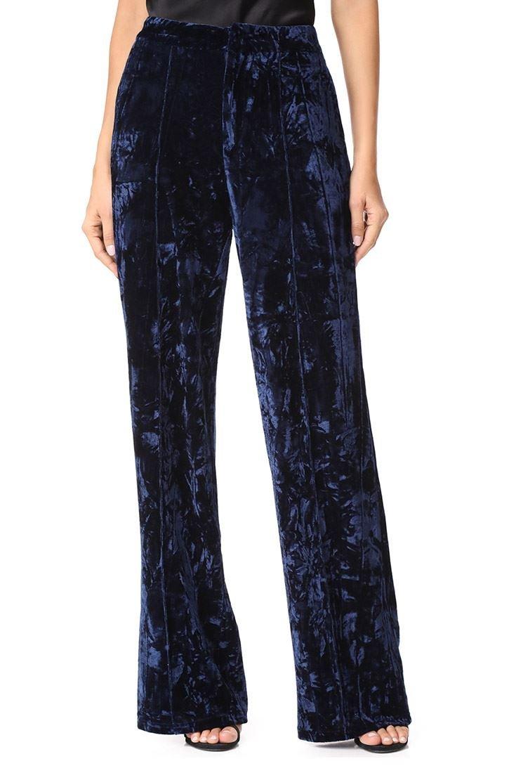 Ronny Kobo Women's Janeesa Dress Pant - Blue Combo Velvet - M