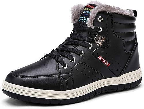Cheville Fourrure Boots Eagsouni® Homme Randonnée Bottes Hiver Chaussures Chaudes Antidérapage Neige De 5Rcq43LSAj