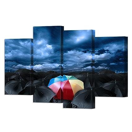 Amazon.com: VVOVV Wall Decor - Color Umbrella In Black Umbrella Wall ...
