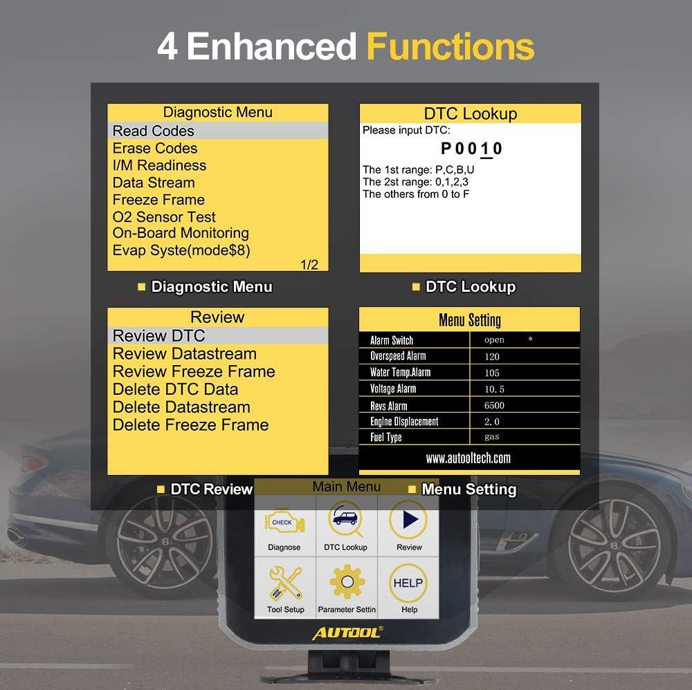 Strumento di scansione per Veicoli a Benzina a 12 V OBDII AUTOOL Supporto Auto J1850 Lettore di Codici OBDII misuratore Digitale Intelligente per Auto X80 OBD2