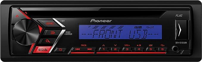 5-Band Equalizer 1DIN RDS-Autoradio mit roter Tastenbeleuchtung MP3 USB Display wei/ß Android-Unterst/ützung ARC App AUX- Eingang iPhone-Steuerung CD Pioneer DEH-S220UI