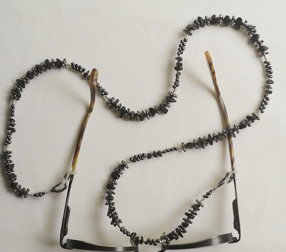 Black Onyx Eyeglass Chain #EY119
