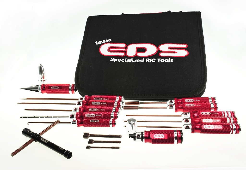 EDS Racing Products Combo Tool Set For 1/8 Buggy w/ Tool Bag - 16 PCS
