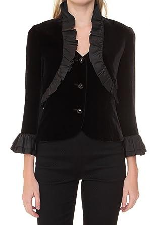 a367044a3d Luisa Spagnoli Silk Blazer Sumatra, Color Black, Size: 38: Amazon.co.uk:  Clothing