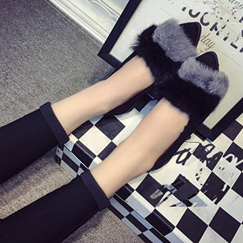 Plates Mocassins Plates Ballerines Femmes Chaussures Chaussures Confort Hiver OverDose wYOxF6w