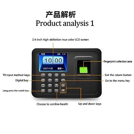 OBO HANDS máquina de asistencia de huellas dactilares pantalla LCD USB biométrico DC 5V / 1A Reloj de tiempo registrador empleado Checking-in Reader A6: ...