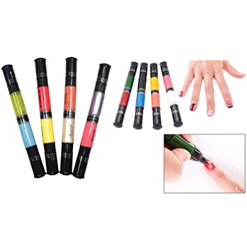 Amazon Set Migi Nail Art Penbrush 16 Colors 8 Pens In