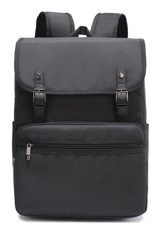 Weekend Shopper Vintage Backpack College Bookbag Business Travel Laptop Backpack for Women and men fit 15.6 inch Laptop backpack-1518-Grey