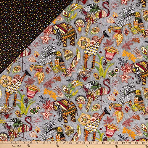 Double Sided Pre Quilted Fabric - Fabri-Quilt Paintbrush Studio Fabrics Ubuntu Pre-Quilted Multicolored Fabric by the Yard