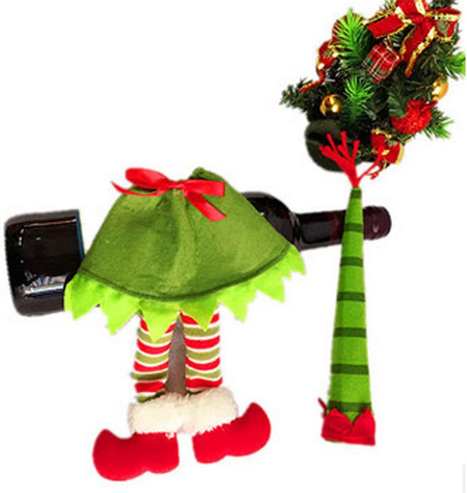Aostuo Mr. Christmas Super Climbing Santa Holiday Decor, Singing Santa Climbing Ladder with Bag of Presents, Indoor Christmas Decoration Christmas Tree Ornament (A)