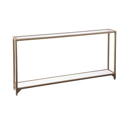 Wood & Style Furniture Bergen - Mesa Consola de Metal Estrecho ...