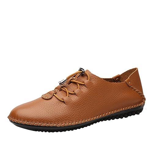 SK Stutio Mocasines de Cuero Casual Loafers Moda Negocio Zapatos de Conducción Zapatillas Plano Slip On para Hombre: Amazon.es: Zapatos y complementos