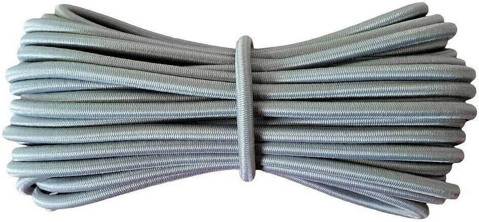 Yusea 4 piezas de repuesto de cuerda elástica estable para silla reclinable de gravedad cero para jardín, tumbona o tumbona, cuerda elástica, Gris, 4 piezas