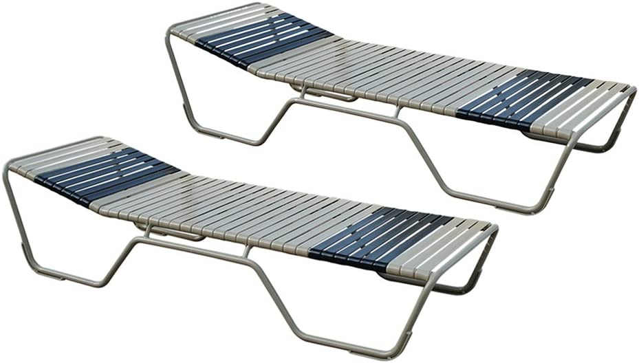 Abba Patio Outdoor Chaise Lounge Chair Reclining Pool Patio Chaise Lounge Set of 2