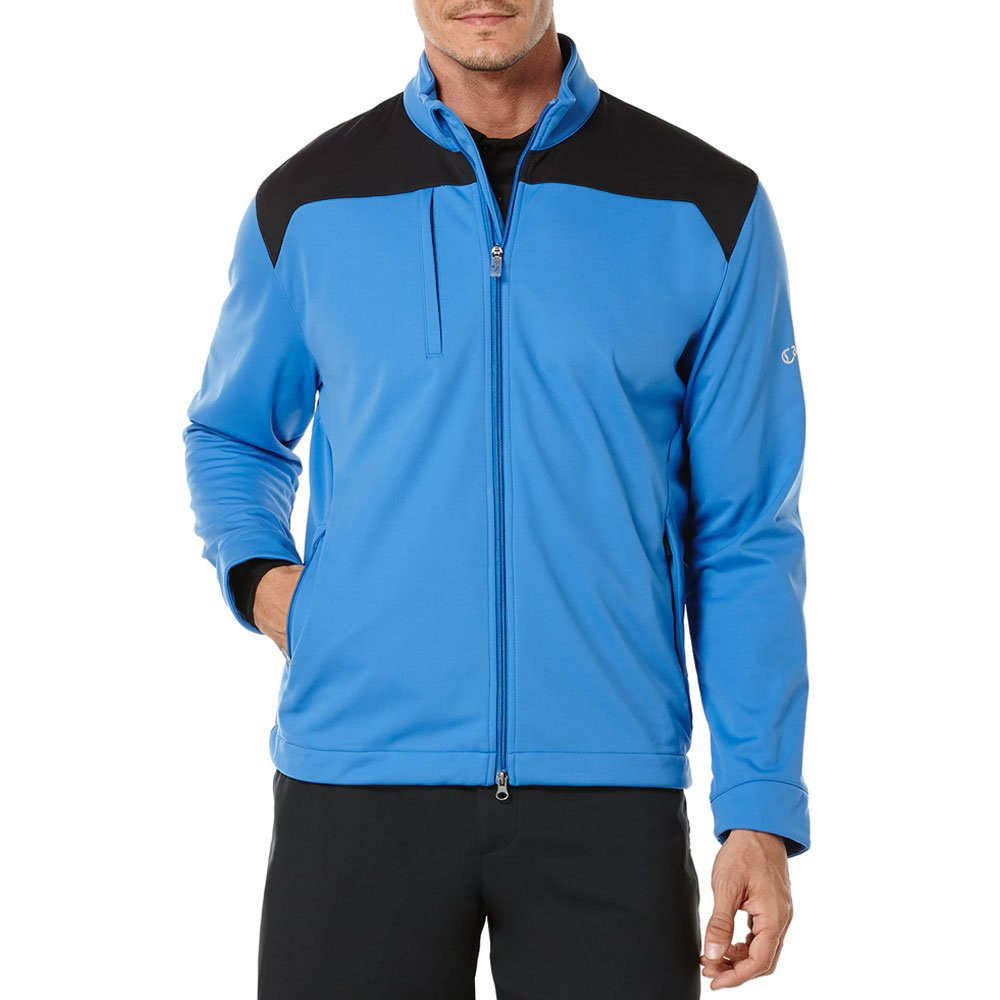 Callaway Men's Lightweight Stretch Soft Shell Jacket Long Sleeve, Palace Blue, Large by Callaway