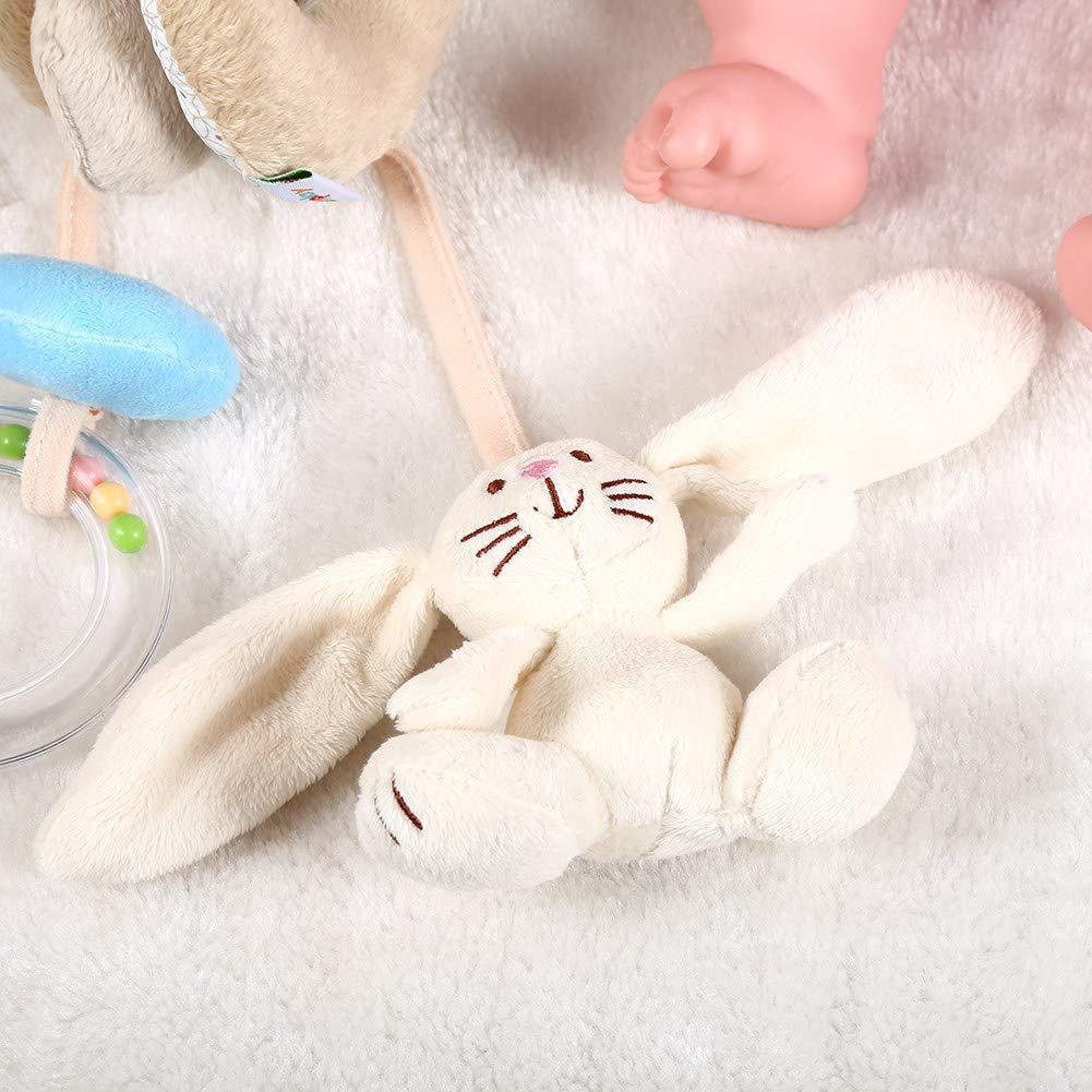Zerodis B/éb/é Jouet Infantile Spirale Wrap Autour de lactivit/é Lit B/éb/é Jouets Doux Lit Poussette Hochet Jouets Animal Educatifs en Peluche Lapin Ours Suspendu Hochet Favoris Jouets