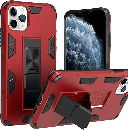 Drop Tested Protective Kickstand Magnetic Car Mount Case for iPhone 12 11 Pro X XR XS Max 6S 7 8 Plus Case,Military Grade 15ft