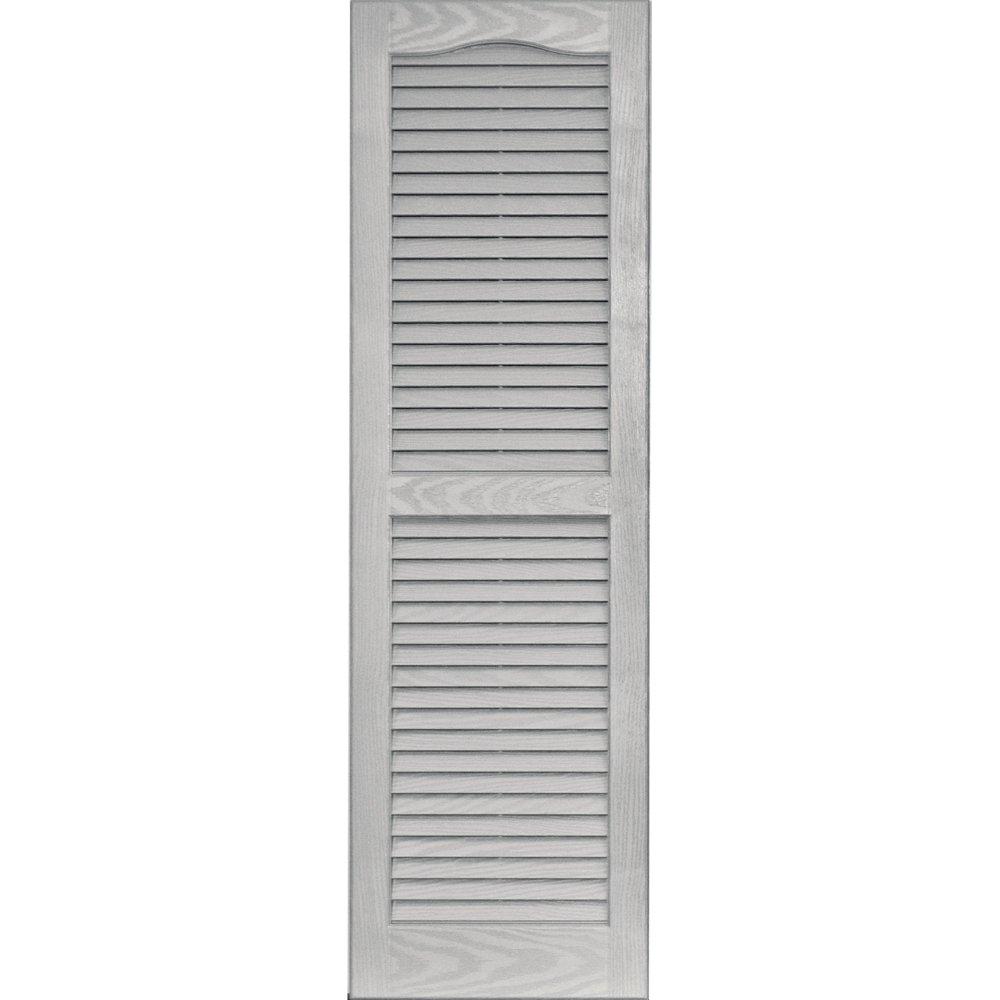 Vantage 0114047030 14X47 Louver Arch Shutter/Pair 030, Paintable