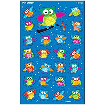 Trend enterprises inc owl stars supershapes stickers large 200 ct