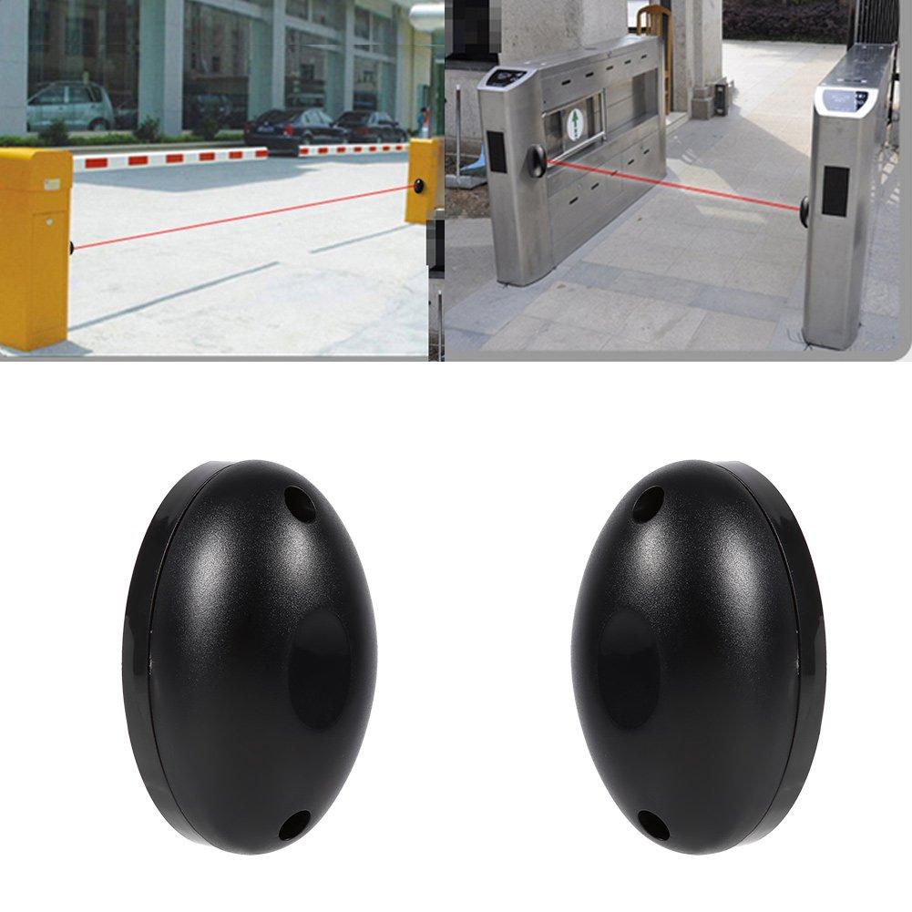 Akozon 1pair Half Egg 20m Simple Beam Alarm Photoelectric Infrared Sensor Detector Home Door Security System