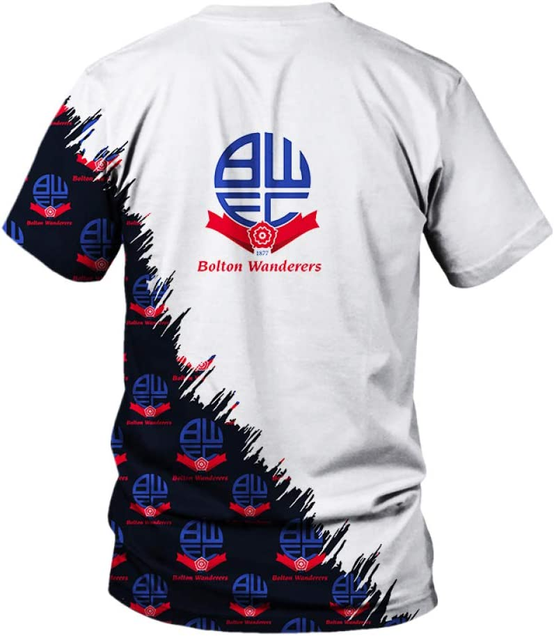 TSDBGSWK T-Shirts Long//Short Sleeve for Bolton-Wanderers-Fc 3D Printing Unisex Tee Fans Mens Teens Shirts Loose XS A1