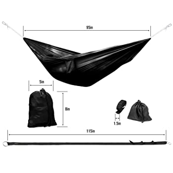 Yes4All Double and Single Hammocks - Ultralight Portable Nylon Parachute Hammock