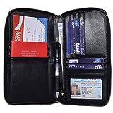 Easyoulife Travel RFID Blocking Passport Wallet Holder Case Document Organizer (Black)