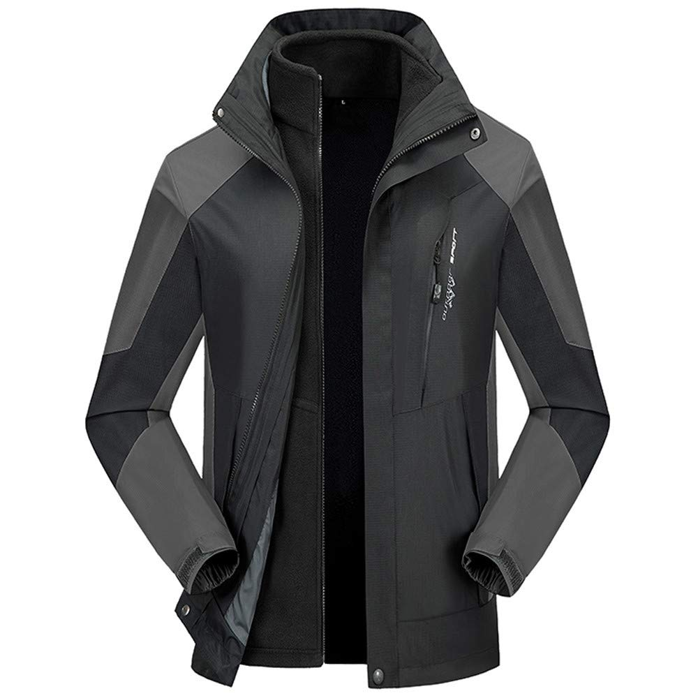 Packable Down Jacket Men Hooded. Men's New Outdoor Outfit Two Piece Three in One Breathable Autumn Winter Coat