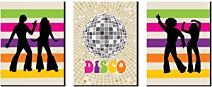 Big Dot of Happiness 70's Disco - 1970s Wall Art, Room Decor and Disco Themed Room Home Decorations - Gift Ideas - 7.5 x 10 inches - Set of 3 Prints