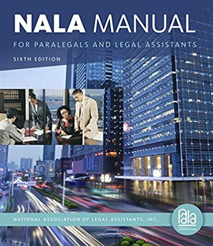 nala manual for paralegals and legal assistants a general skills rh amazon com Nala Oklahoma nala manual for paralegals and legal assistants pdf