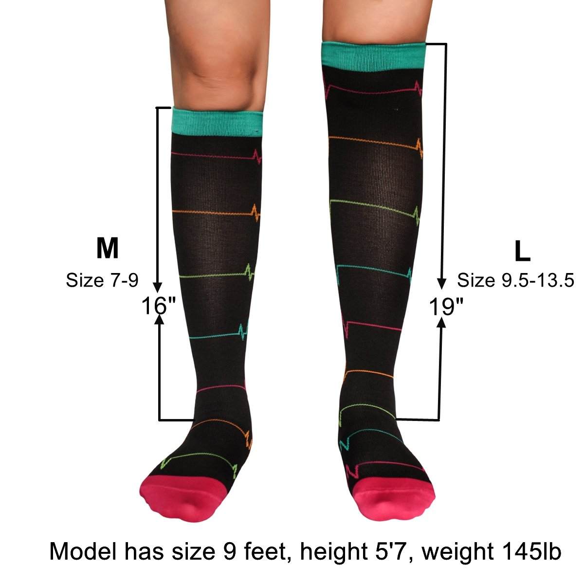 3 Pairs Compression Socks for Nurse(Women)|20-30mmHg Graduated Knee High Stocking |Anti Fatigue & Prevent Swelling in 12h Shift by LEVSOX (Image #3)