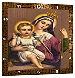 3dRose Vintage Mother Mary and Baby Jesus – Wall Clock, 13 by 13-Inch (DPP_8042_2) Review