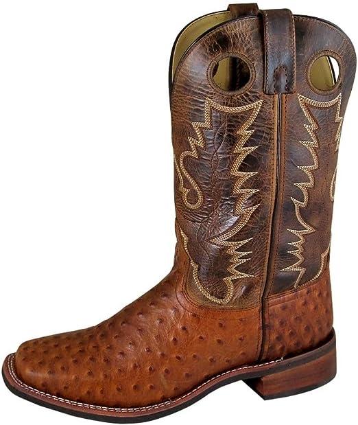 """Men/'S Danville 11/"""" Cognac//Brown Crackle Leather Cowboy Boot"""