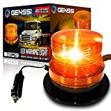 GENSSI LED Beacon Strobe Light Roof Tow Truck 3 Function 40 SMD Flashing Amber