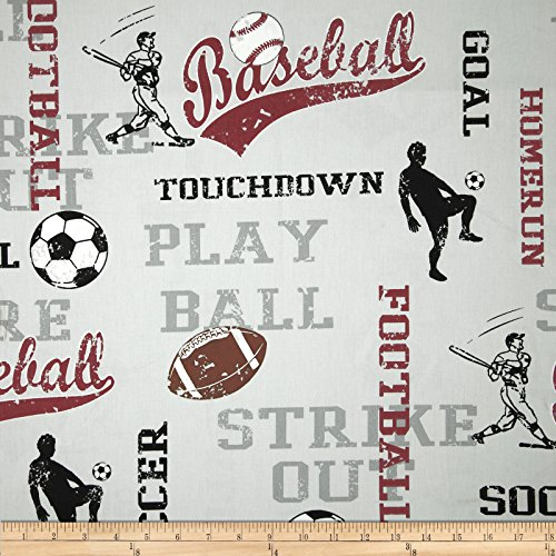Premier Prints Sports Twill Maroon Fabric