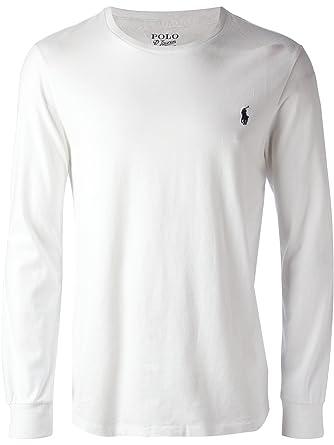 Polo Ralph Lauren Men\u0027s Long Sleeve Crew Neck Pony Logo T-Shirt, White,