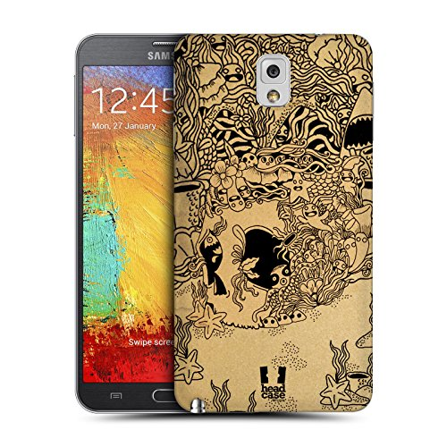 Head Case Designs Underwater Doodle Skull Replacement Battery Back Cover for Samsung Galaxy Note 3 N9000 N9002 N9005