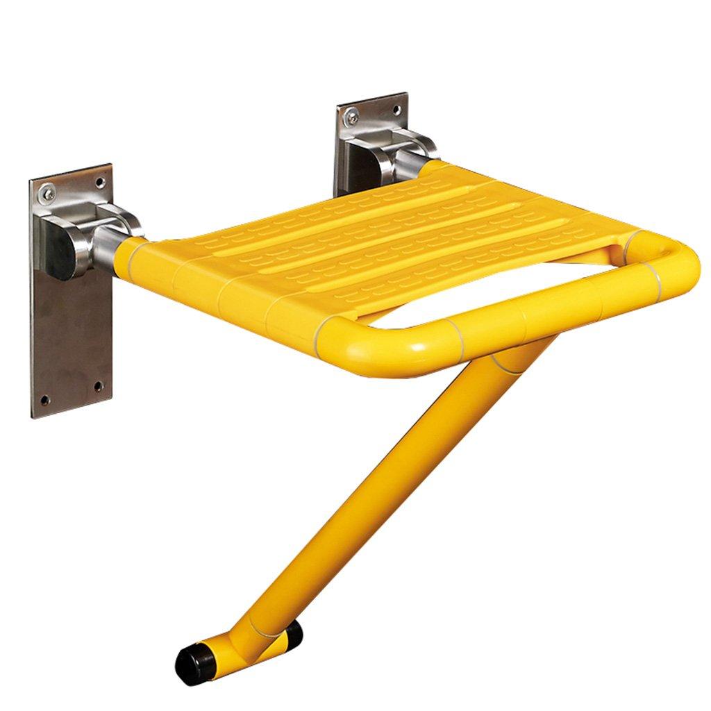 バスルーム折りたたみシャワースツールウォールシャワーシートバスルーム高齢者ノンスリップウォールチェアシャワースツール B07DFFJZ3T