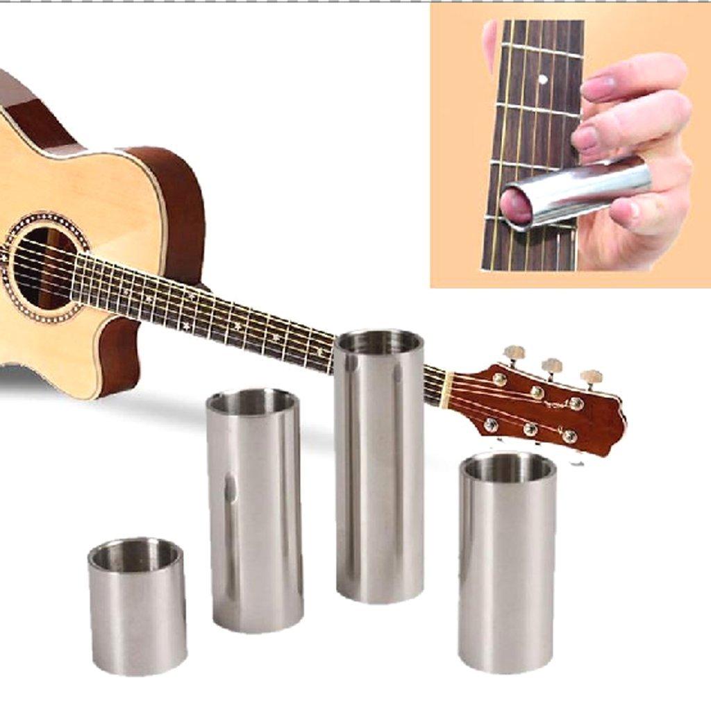 4pcs/set anillo de metal Slide de guitarra Cuerdas de dedo Tubo Slide para guitarra eléctrica acústica instrumentos musicales parte accesorios 28 51 60 70 ...