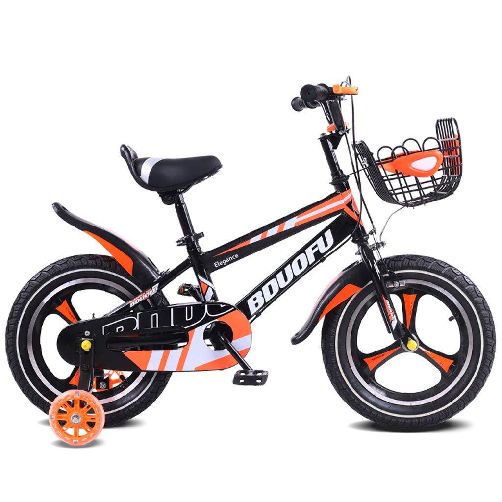 子供用自転車12/14/16インチベビーベビーカー2-5-8歳子供3輪自転車オレンジ ( Size : 12 inches ) B07DQMR64H