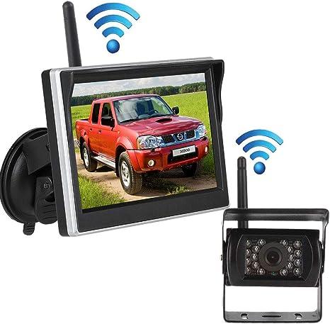 caravanas monitor TFT LCD de 4,3 pulgadas LED C/ámara retrovisora AUTO-VOX M1W para furgonetas inal/ámbrica impermeabilidad IP68 visi/ón nocturna camiones y m/ás
