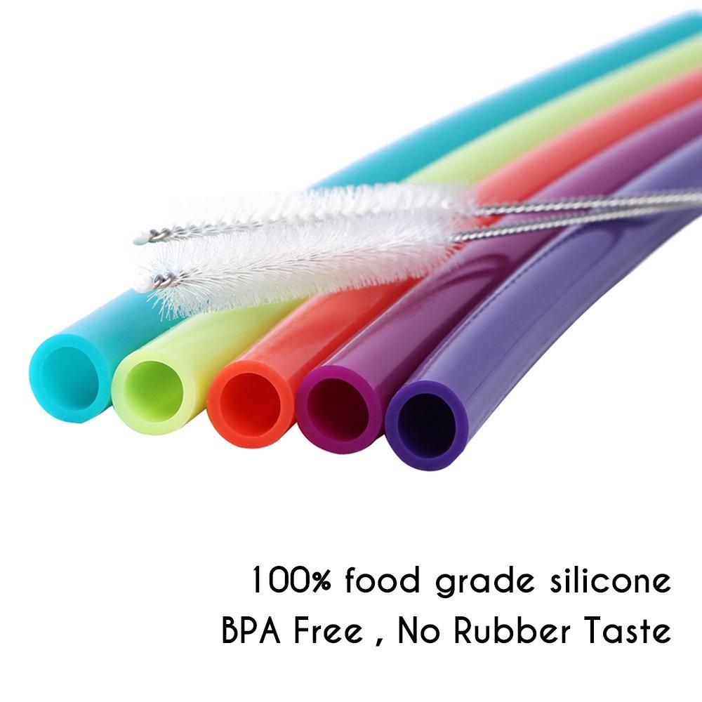Hiware 12 Inch Extra Long Silicone Straws For Big Fitti Rainbow Regular S 12x12 Bags Tumblers 40 Oz Hydro Flask 30 Zo Yeti Rict Ozark Trail Flexible Tall Cups