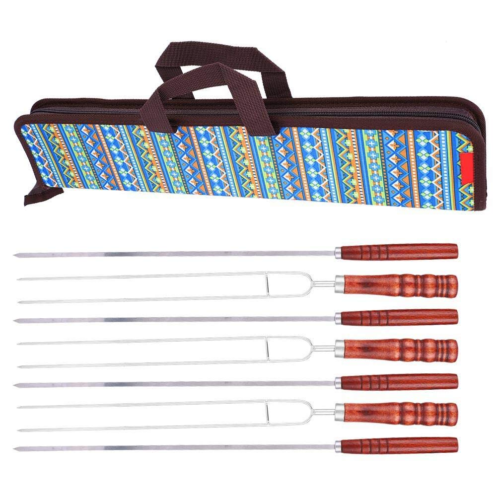 Huakii 7 in1 Stainless Steel BBQ Fork Set for Camping Dining Barbecue by Huakii
