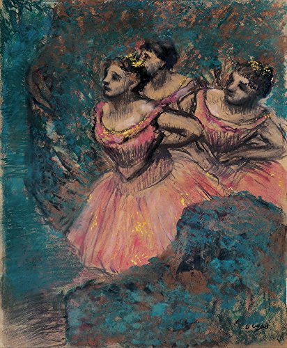 [Edgar Degas Giclee Canvas Print Paintings Poster Reproduction (Three Dancers in Red Costume)] (Early Ballet Costumes)