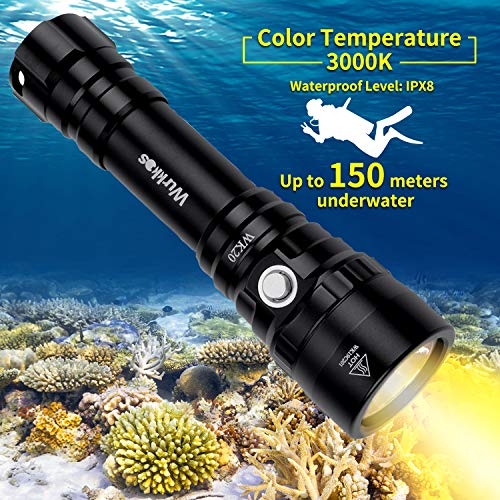 Diving Light, Waterproof Scuba Dive LED Flashlight