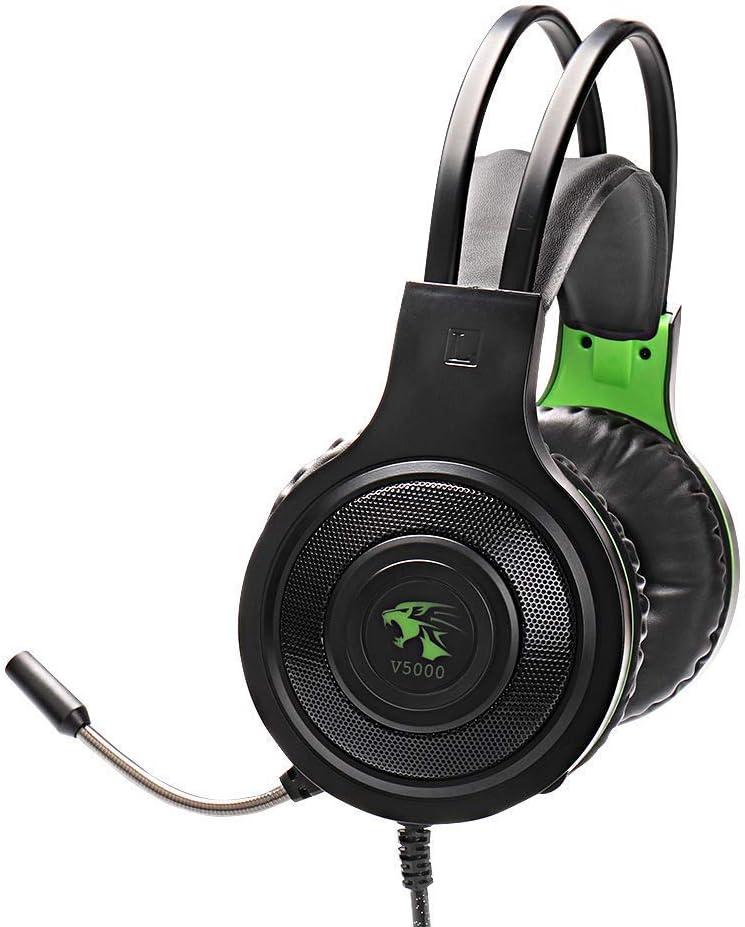 YUNTAB headset V5000 Cuffie Gaming Super Confortevole con Microfono e Stereo Bass