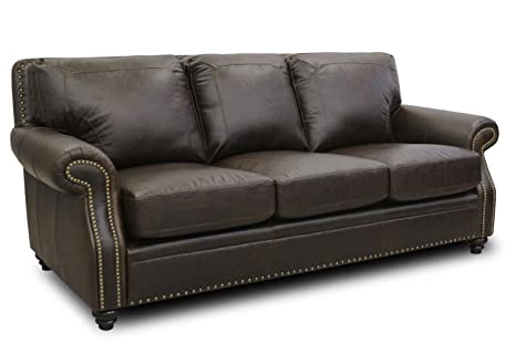 Amazon Com Devine Leather Furniture 4143 S Darkbrown Italian