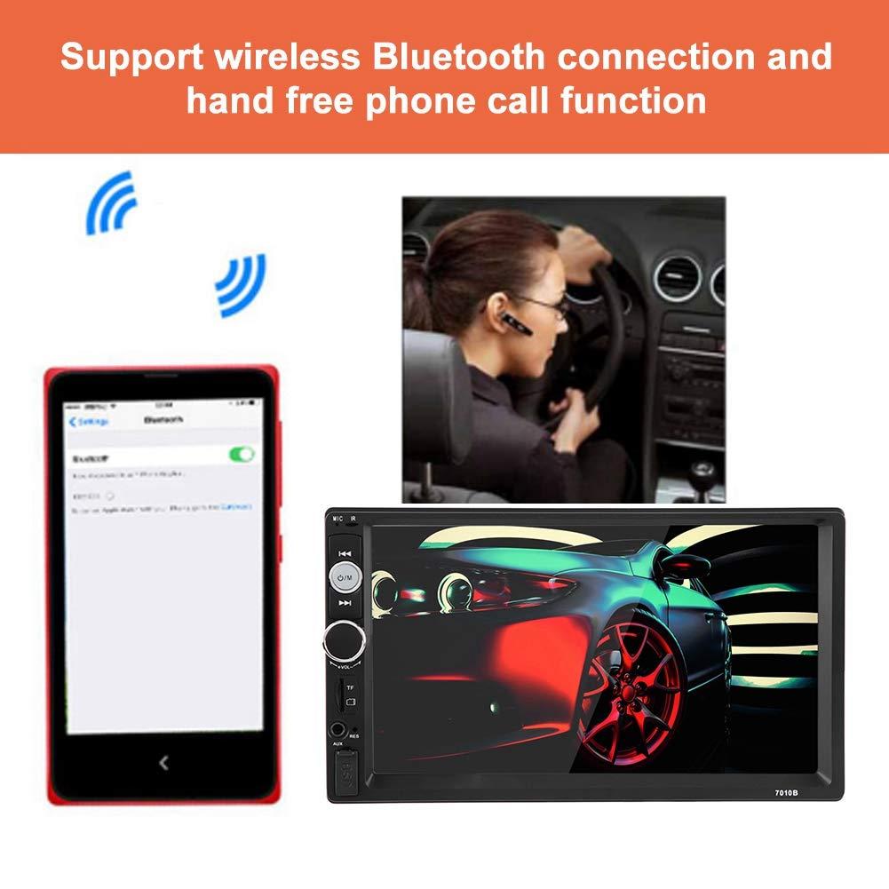 lecteur MP3 MP5 7 pouces HD Touch Scrren double voiture Aramox Lecteur vid/éo pour la voiture avec t/él/écommande kit de contr/ôle /à distance de la radio USB FM cam/éra arri/ère