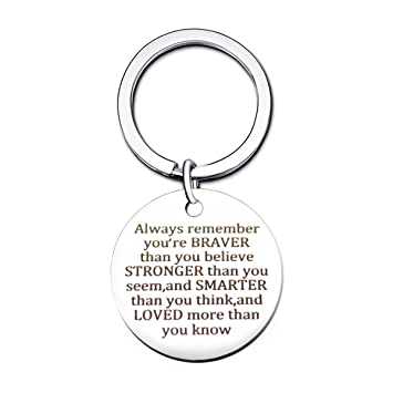 Stainless Steel Always Remember You Are Braver GUITAR PICK Father/'s Day Xmas UK