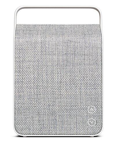 (Vifa Oslo Compact Rechargeable Hi-Resolution Bluetooth Portable Speaker- Pebble Grey)